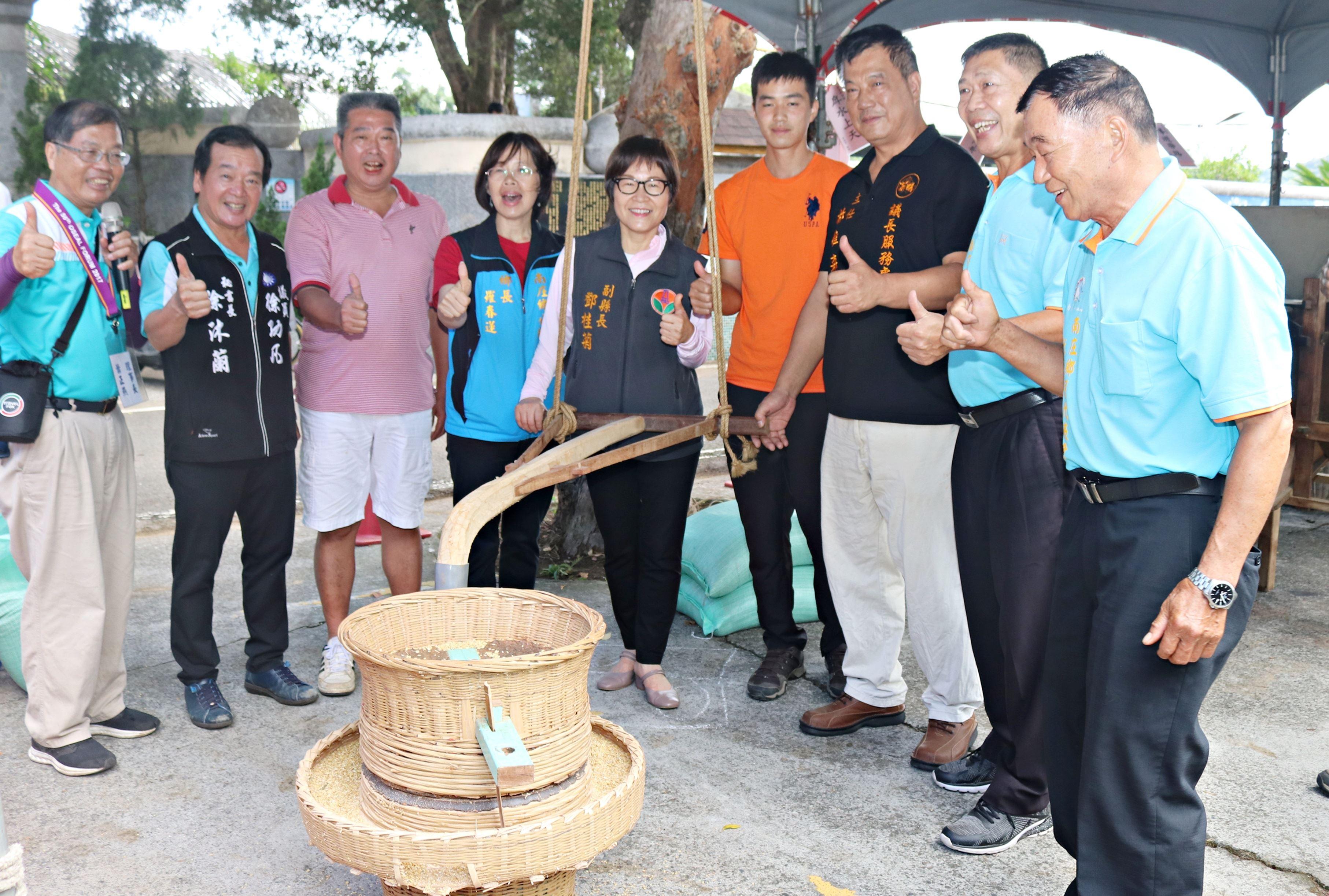 南庄稻香土礱情 親子體驗傳統碾米樂