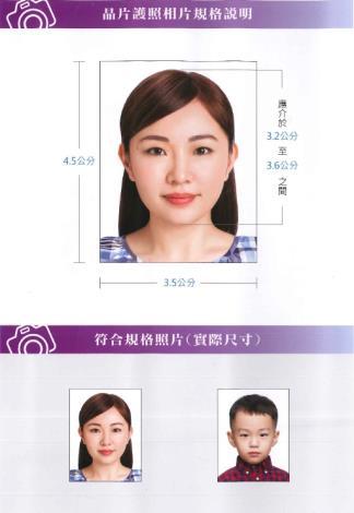 申辦晶片護照相片-規格說明-2