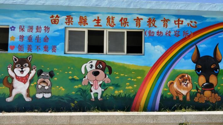 動物收容所彩繪牆