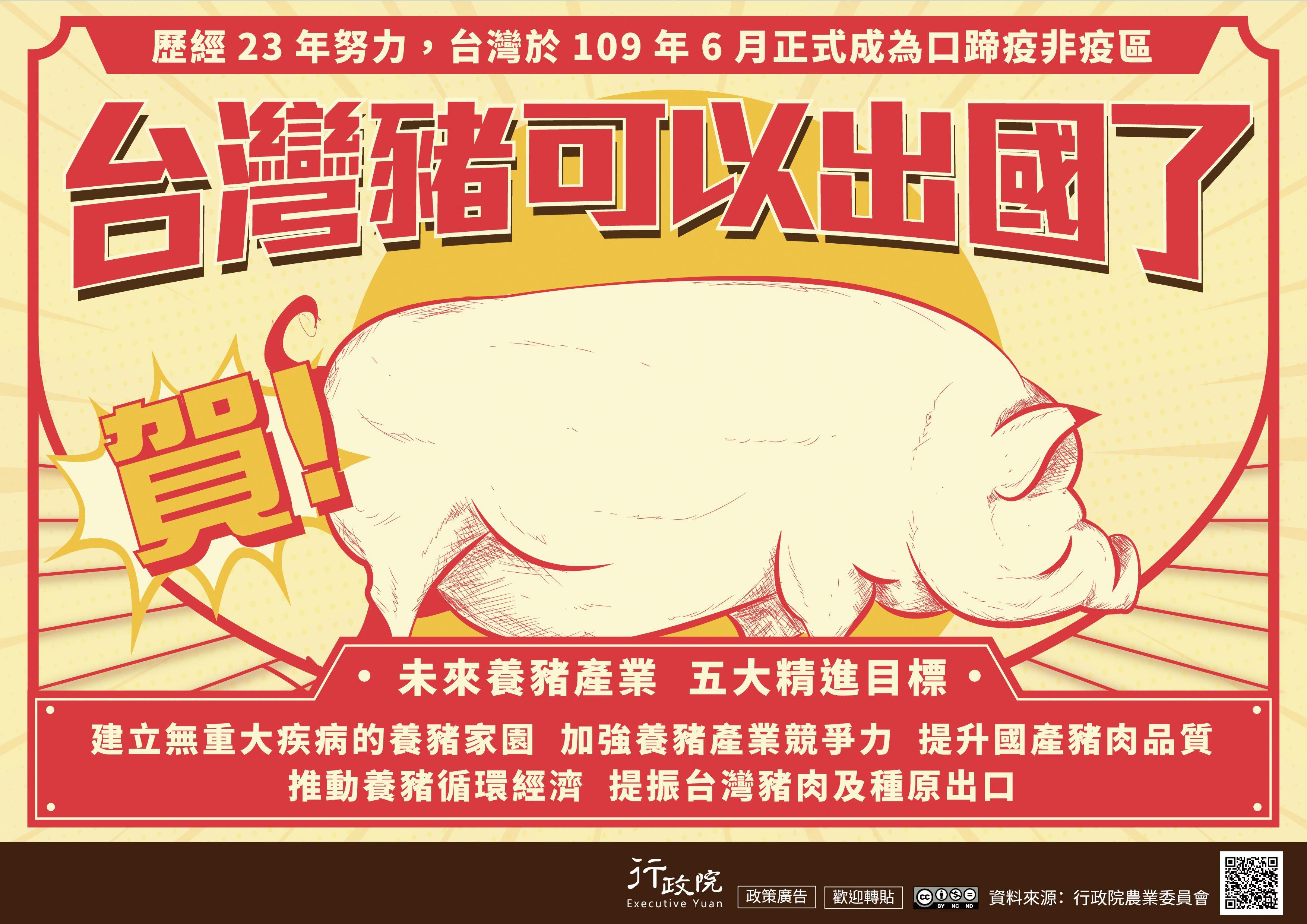 台灣成為非口蹄疫疫區