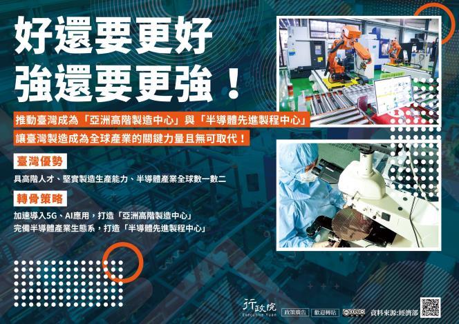 推動台灣成為「亞洲高階製造中心」與「半導體先進製程中心」