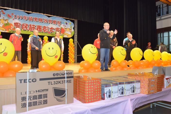 縣長徐耀昌指示加強協助提升生產技術及行銷通路並保障食安