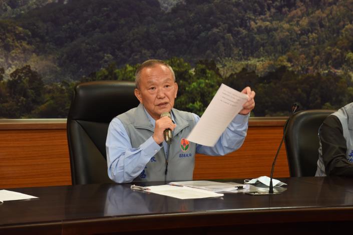縣長徐耀昌宣布中止坤輿試運轉計畫