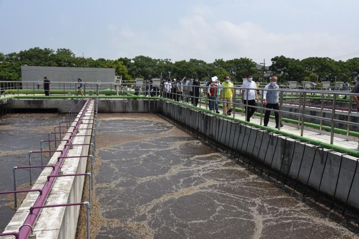 縣長與議長一行到水資源回收中心關心水情
