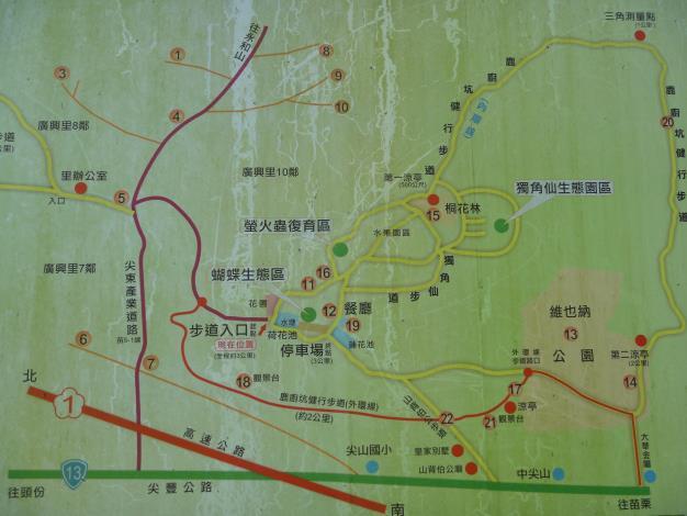 鹿廚坑步道地圖