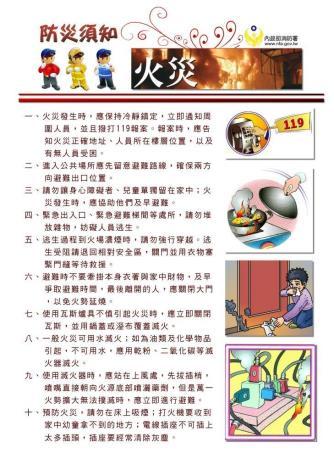 防災須知-火災