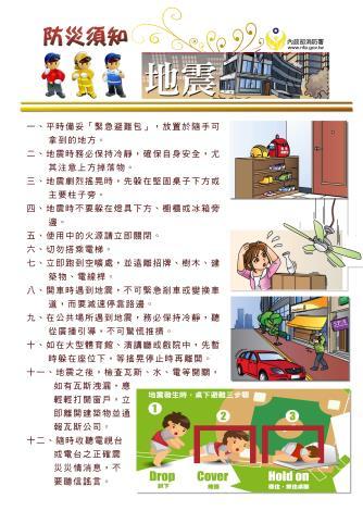 防災須知-地震