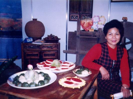 咚咚客家傳統米食老闆照片