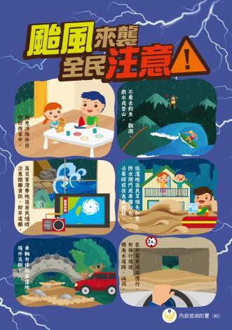 颱風來襲,全民注意!