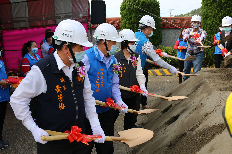 西湖鄉增建第二座納骨塔統包工程破土典禮