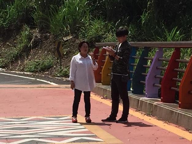 泰安鄉南三村(大安ㄧ號橋、梅象聯絡道)已施工完成、鄉長劉美蘭前往視察
